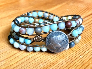 Selling with online payment: Semi-Precious Gemstone Wrap Bracelet