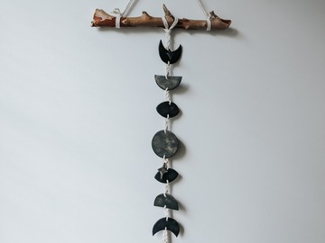 Selling: Black Moon Phases Wall Hanging