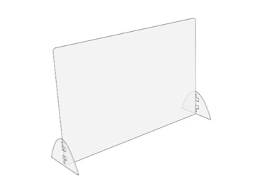 "Products for Sale: Standard Sneeze Guard | Horizontal 32"" W x 24"" H"