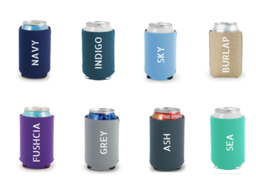 Selling with online payment: Custom Can Coozies (Can Coolers)