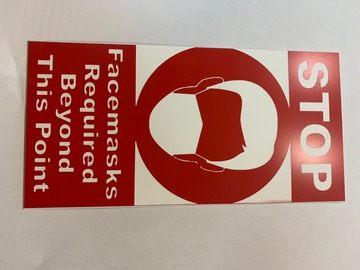 Sell your product: 2 Color Hard Plastic Signage Custom Messaging and Sizes