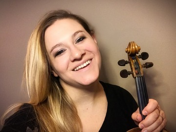 Violin Lesson -  1 Hour: Violin lessns (ZOOM/SKYPE) with Hannah