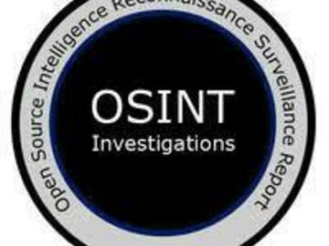 Selling Services (Per Job): OSINT Search