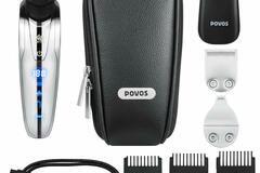 Buy Now: POVOS 4-In-1 Men's Grooming Set, USB Charging Electric Razor