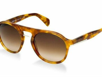 For Sale: PRADA: Round Frame Havana Sunglasses