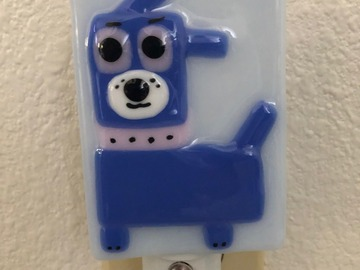 Selling with online payment: Fused Glass LED Dog Nightlight