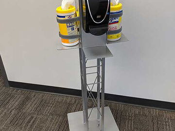 Sell your product: Sanitizing Station - Four Sided Stand