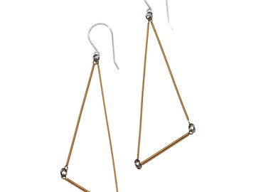 Selling with online payment: Guitar String Jewelry, Triangle Earrings
