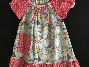 Selling with online payment: Kitty Fabric Cotton Peasant Dress