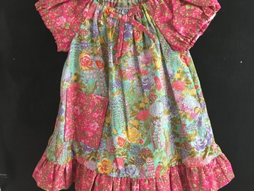 Selling with online payment: Soft Floral Baby Peasant Style Dress