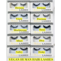 Buy Now:  Vegan Human Hair Lashes 10 Different Styles