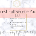 Offering online services: Pinterest Full Service Set Up And Monthly Management