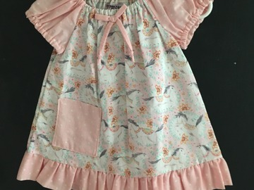 Selling with online payment: Carousal Horse Peasant Dress