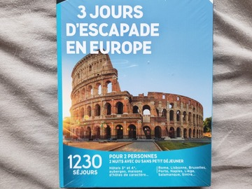 "Vente: Coffret Wonderbox ""3 jours d'escapade en Europe"" (99,90€)"