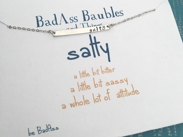 Selling with online payment: Salty Hand-Stamped Necklace