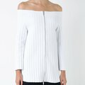 For Sale: SCANLAN THEODORE: Crepe Knit Cold Shoulder Top