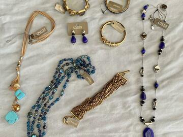 Buy Now: 100 pieces High End Designer Name Brand Jewelry- Chico's ,QVC ect