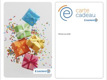 Vente: e-carte cadeau Leclerc (100€)