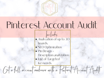 Offering online services: Pinterest Account Audit