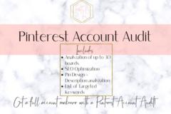 Offering online services: Pinterest Account Audit