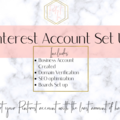 Offering online services: Pinterest Account Set Up