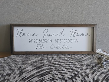 Selling with online payment: Custom Home Sweet Home Sign