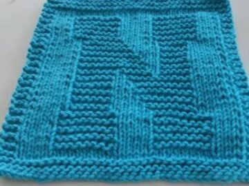 Selling with online payment: Knitted Alphabet Dishcloth
