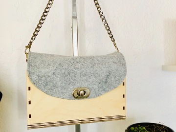Selling with online payment: Handmade Wooden Clutch