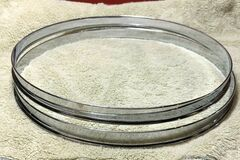 "Selling with online payment: 2 Very Rare Leedy, Leedy & Ludwig 12"" Single Flange Chrome Hoops"