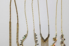 Buy Now: 50 PIECE RHINESTONE NECKLACE HIGH QUALITY MIX LOT COLORS/ETC