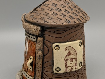 Selling with online payment: Fairy House Stoneware  Bank