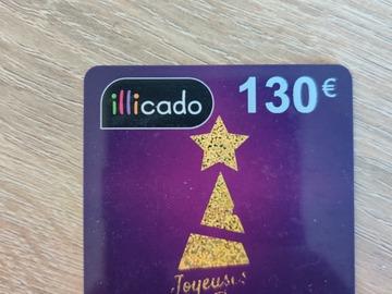 Vente: Carte cadeau illicado (130€)