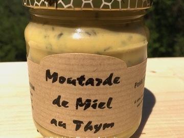 Vente avec paiement en ligne: Moutarde au miel et au thym 250g