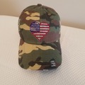 Selling with online payment: Patriotic Camo Baseball Hat with Rhinestone Heart