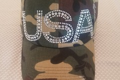 Selling with online payment: USA Distressed Baseball  Hat