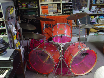 Show Off Your Drums! (no sales): 1972 FIBES Rare  Pink Crystalite drum set