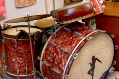 Show Off Your Drums! (no sales): 1930-40s SLINGERLAND Radio King Rose Marine pearl drum set