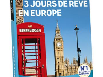 "Vente: Wonderbox ""3 jours de rêve en Europe"" (199,90€)"