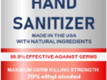 Sell your product: Hand Sanitizer 4 oz spray bottle