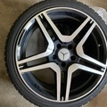 Selling: 5x112 amg wheels 19inch. 2/4 new snow tires