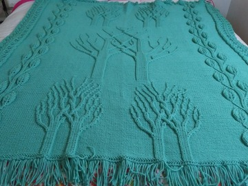 Selling with online payment: Knitted Afghan