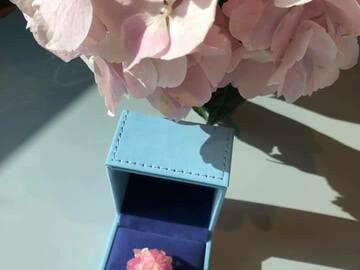 : Hydrangea Shape Ring - Pink