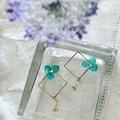: Pearl Hydrangea Blue Earring