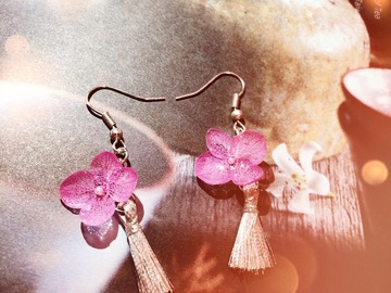 : Chinese style Hydrangea earring