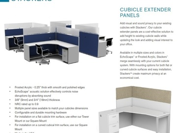 Products for Sale: Screens for workstations