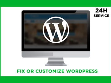 Selling Services (Per Hour): I will customize or fix your WordPress immediately
