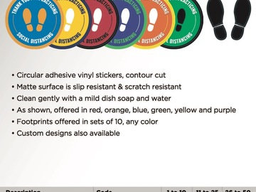 Sell your product: Social Distancing Vinyl Decals
