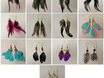 Buy Now: 200 Pairs Feather Earrings Dangle Jewelry for Women and Girls