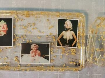Selling with online payment: Marilyn Monroe Vanity/Makeup Tray and Matching Coffin