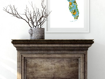 Selling with online payment: Florida State Map Print